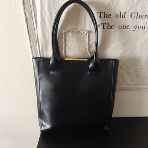 BCBGMax Azria Cleo Leather Tote Black